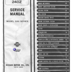 1973 Datsun 240Z S30 Field Service Manual